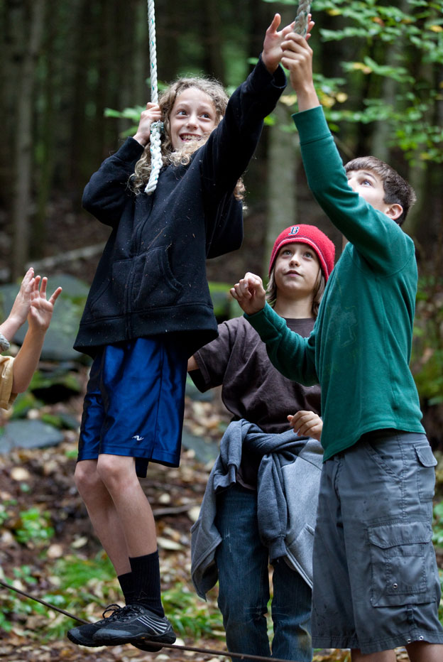 cooperative low-ropes game